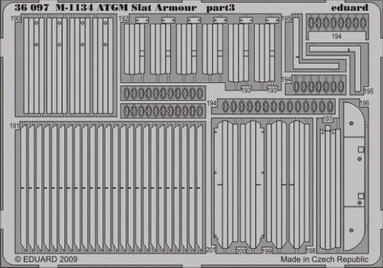 Eduard M-1134 ATGM slat armour (AFV Club)