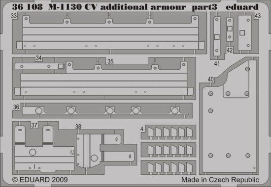 Eduard M-1130 CV additional armour (Trumpeter)