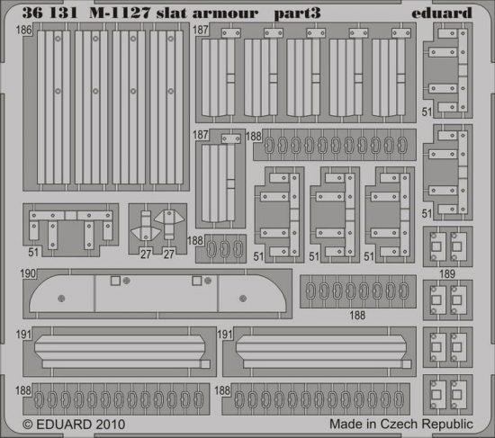 Eduard M-1127 slat armour (Trumpeter)