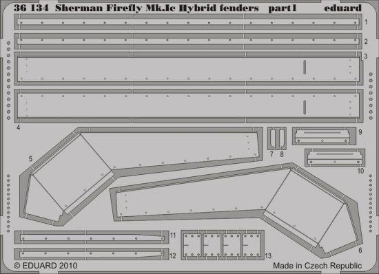 Eduard Sherman Firefly Mk.Ic Hybrid fenders (Dragon)