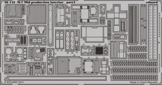 Eduard M-7 Mid production interior (Dragon)