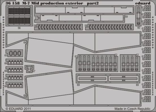 Eduard M-7 Mid production exterior (Dragon)