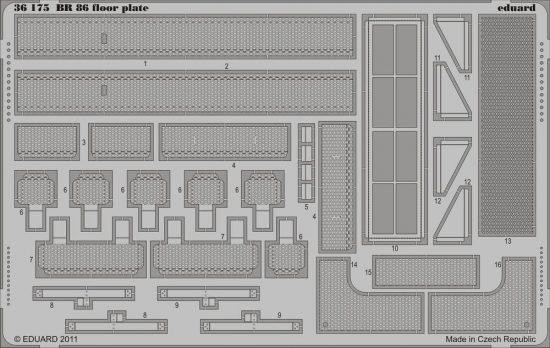 Eduard BR 86 floor plate (Trumpeter)