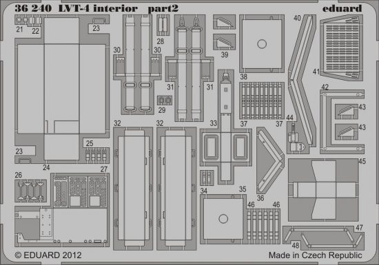 Eduard LVT-4 interior (AFV Club)