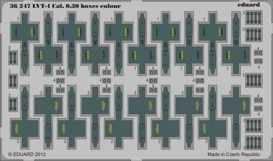 Eduard LVT-4 Cal. 0.30 boxes colour (AFV Club)