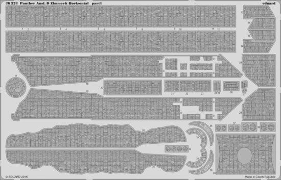 Eduard Panther Ausf. D Zimmerit Horizontal (Tamiya)