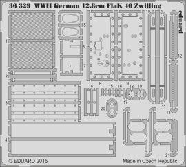 Eduard WWII German 12.8cm FlaK 40 Zwilling (Takom)