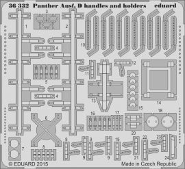 Eduard Panther Ausf. D handles and holders (Tamiya)