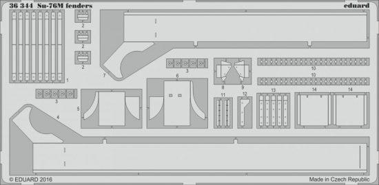 Eduard Su-76M fenders (Tamiya)