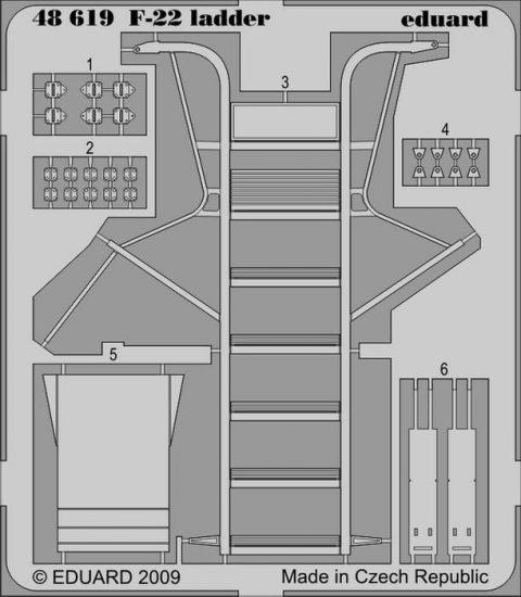 Eduard F-22 ladder (Academy)