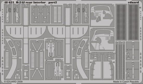 Eduard B-24J rear interior (Revell)