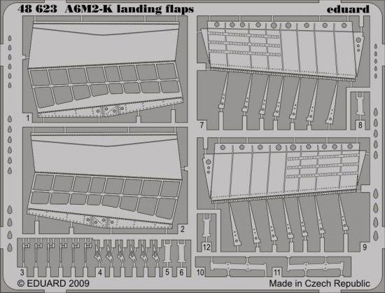 Eduard A6M2-K landing flaps (Hasegawa)