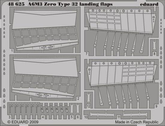 Eduard A6M3 Zero Type 32 landing flaps (Hasegawa)