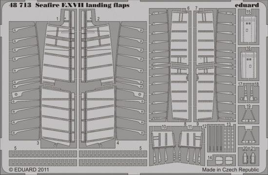Eduard Seafire F.XVII landing flaps (Airfix)