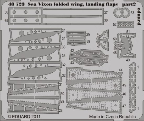 Eduard Sea Vixen folded wings, landing flaps (Airfix)