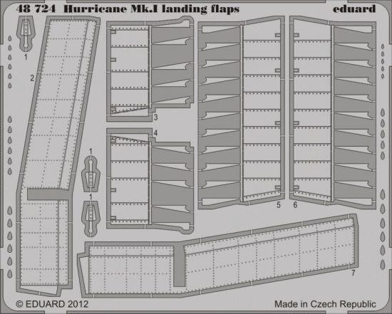 Eduard Hurricane Mk.I landing flaps (Italeri)