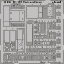 Eduard Bf 109E tools and boxes