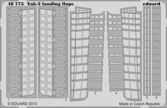 Eduard Yak-3 landing flaps (Zvezda)