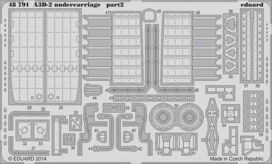 Eduard A3D-2 undercarriage (Trumpeter)