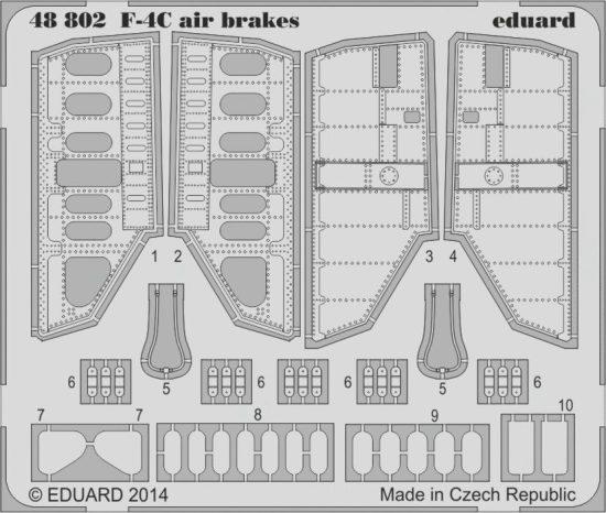 Eduard F-4C air brakes (Academy)