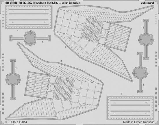 Eduard MiG-25 Foxbat air intakes & F.O.D. (Kitty Hawk)
