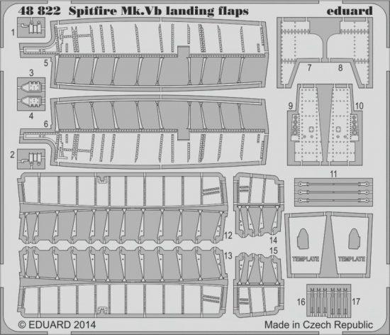 Eduard Spitfire Mk.V landing flaps (Airfix)