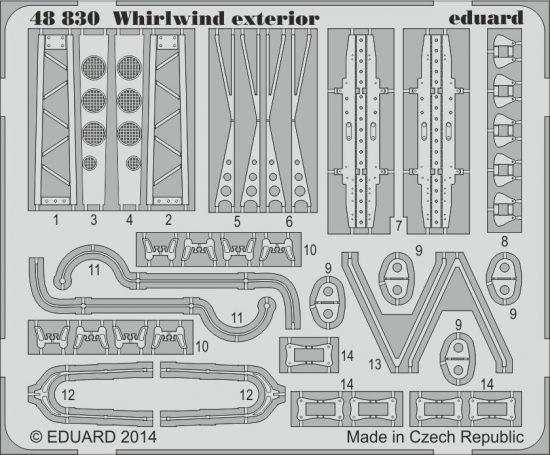 Eduard Whirlwind exterior (Trumpeter)