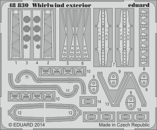 Eduard Whirlwind exterior (Trumpeter)