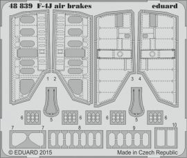 Eduard F-4J air brakes (Academy)