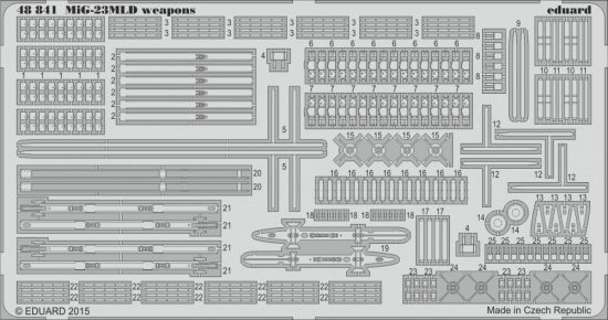 Eduard MiG-23MLD weapons (Trumpeter)