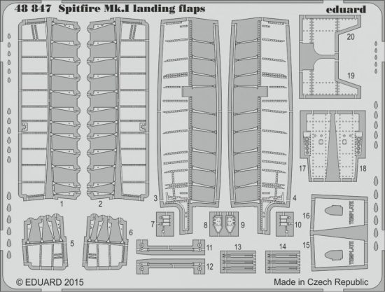 Eduard Spitfire Mk.I landing flaps (Airfix)