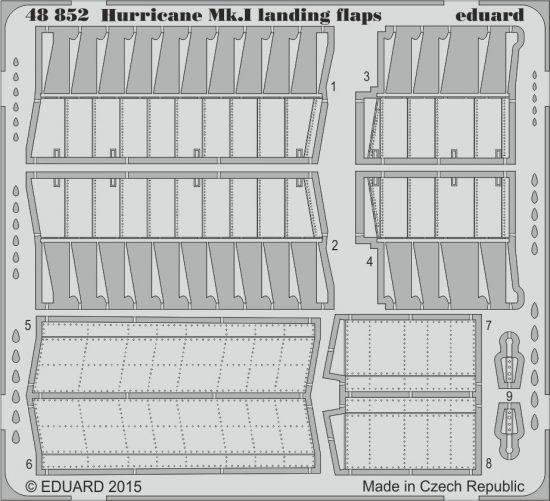 Eduard Hurricane Mk.I landing flaps (Airfix)