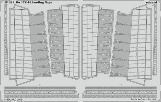 Eduard Do 17Z-10 landing flaps (Icm)