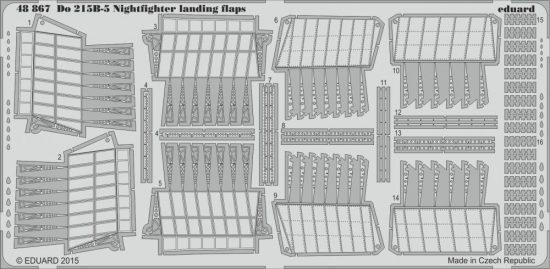 Eduard Do 215B-5 Nightfighter landing flaps (Icm)