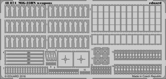 Eduard MiG-23BN weapons (Trumpeter)