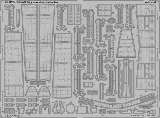 Eduard EKA-3 Skywarrior exterior (Trumpeter)