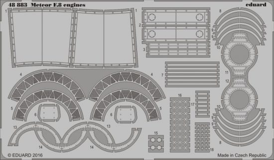 Eduard Meteor F.8 engines (Airfix)