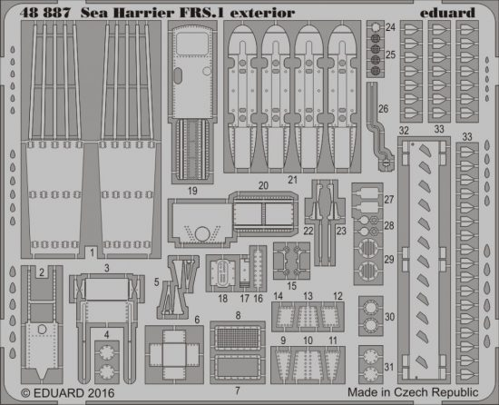 Eduard Sea Harrier FRS.1 exterior (Kinetic)
