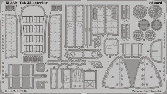 Eduard Yak-38 exterior (Hobby Boss)