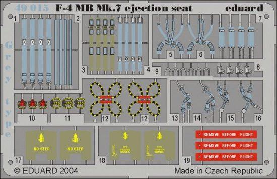 Eduard F-4 ejection seat grey (Hasegawa)