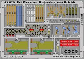 Eduard F-4 ejection seat British (Hasegawa, Revell)