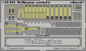 Eduard Wellington seatbelts (Trumpeter)