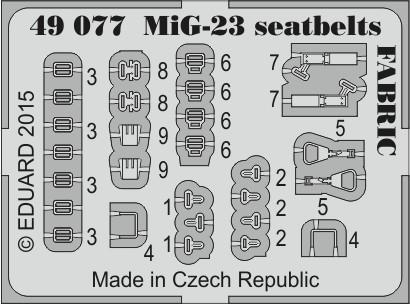 Eduard MiG-23 seatbelts FABRIC (Trumpeter)