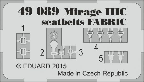 Eduard Mirage IIIC seatbelts FABRIC (Eduard)