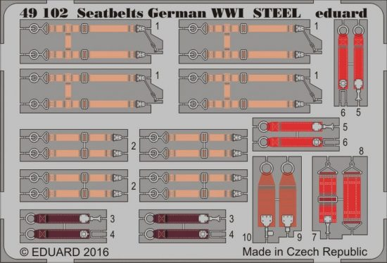 Eduard Seatbelts German WWI STEEL