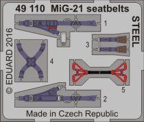 Eduard MiG-21 seatbelts STEEL