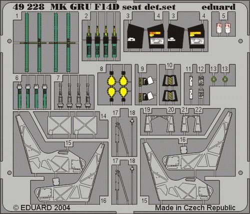 Eduard F-14D ejection seat (Hasegawa)