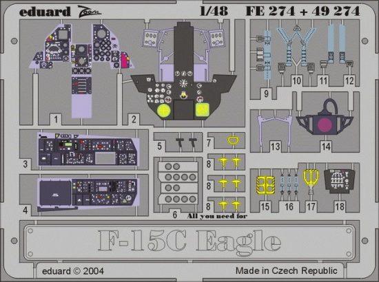 Eduard F-15C interior (Hasegawa)