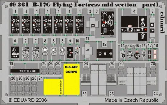 Eduard B-17G mid section (Revell)