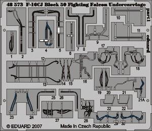 Eduard F-16CJ Block 50 undercarriage (Tamiya)